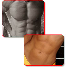 Mens and Womens Ripped Abs
