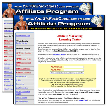 New Your Six Pack Quest Affiliate Profit Center